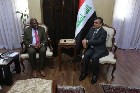 Dr Sogunro with Dr Mahdi Al-Allak