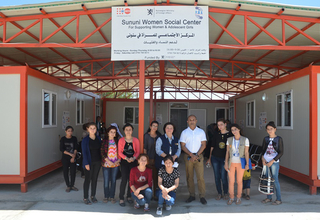 Mr.Ramanathan Balakrishnan, UNFPA Representative in Iraq, during his visit to Sununi Women Center, Sinjar district, Nineveh Governorate, Northern Iraq