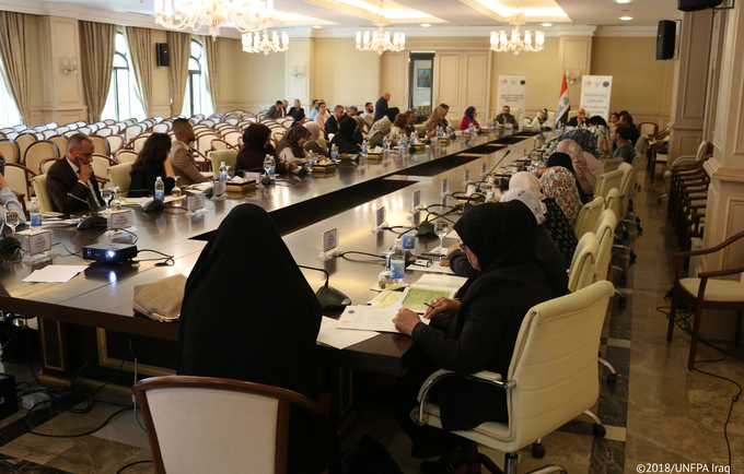 Launch of the Inter-Agency GBV Standard Operating Procedures (SOPs) in the Central South region © 2018/UNFPA Iraq