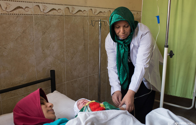From 2014 onward, the organization established over 94 reproductive health service delivery points © UNFPA Iraq