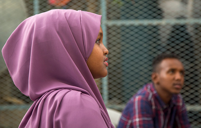 A young woman advocates to end female genital mutilation and other harmful practices in Somalia. © UNFPA Somalia