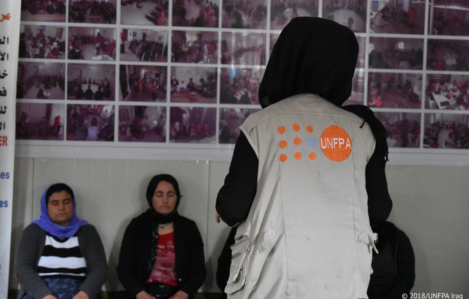 """Meeting individuals who had gone through the same challenges gave me the confidence and strength to move forward and stop dwelling on what broke me,"" Ghalia. © 2018/UNFPA"