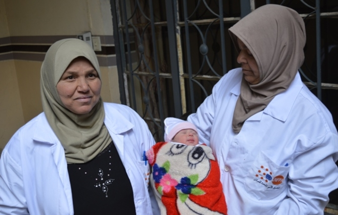"""""""Within hours of opening, Ahmed was the first born in UNFPA, EU supported, mobile delivery clinic in West Mosul"""". Credits: (IHAO)"""