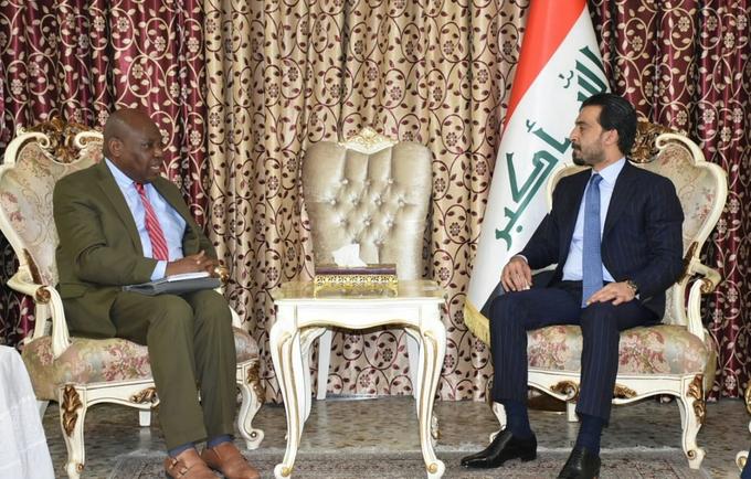 Dr Sogunro with Speaker Al-Halbousi