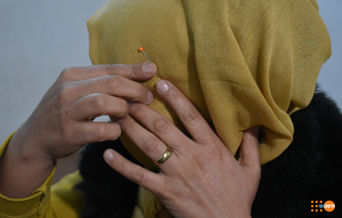 Cojine* endured years of spousal abuse in Iraq. © UNFPA Iraq