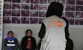 """""""Meeting individuals who had gone through the same challenges gave me the confidence and strength to move forward and stop dwelling on what broke me,"""" Ghalia. © 2018/UNFPA"""