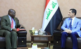 UNFPA Representative to Iraq, Dr Oluremi Sogunro, met with the Minister of Planning, Dr. Nouri Sabah Al-Dulaimi