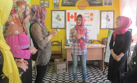 """""""Sharing one's experience is the best way to raise awareness in communities,"""" Rusul, 27. © 2018/Iraq"""