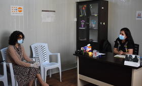 UNFPA Representative at the UNFPA-supported Women Centre © 2020/UNFPA Iraq photo