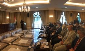 ممثلة صندوق الأمم المتحدة للسكان في العراق ، الدكتورة ريتا كولومبيا تتحدث في المؤتمر